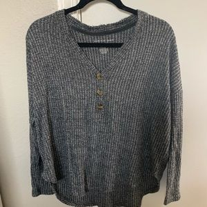 AE Soft and Sexy Plush Waffle Henley